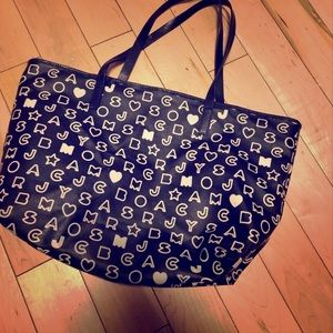 Marc by Marc Jacobs black and white Logo tote